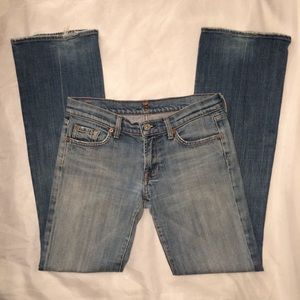 7 For All Mankind Premium Bootcut Jeans - Size